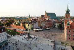 Castle Square in Warsaw, Poland